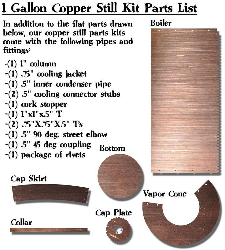 Copper Moonshine Stills & Moonshine Still Kits - 1gal