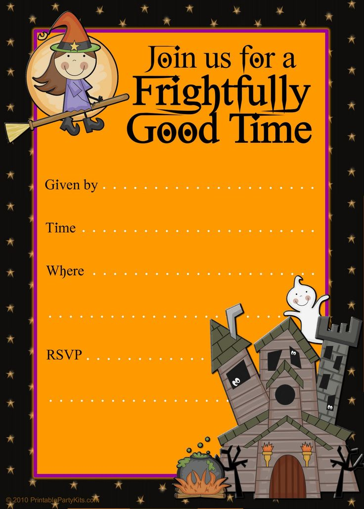 55 best images about Fall block party – Halloween Party Invitation Printable Free