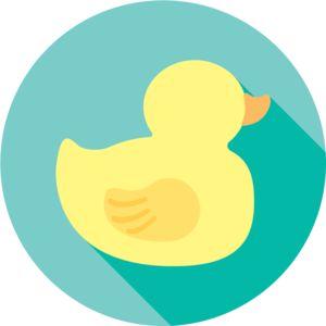 Duck   Design   Flat   Icon   Illustration   Animal   Rubber Duck   Ducky   Duckling   Kayla Folino