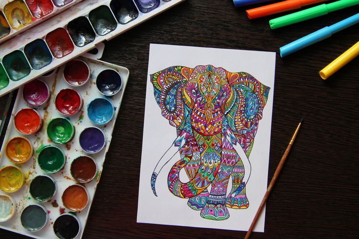 Colorful Elephant :) #elephant #creation  #paints
