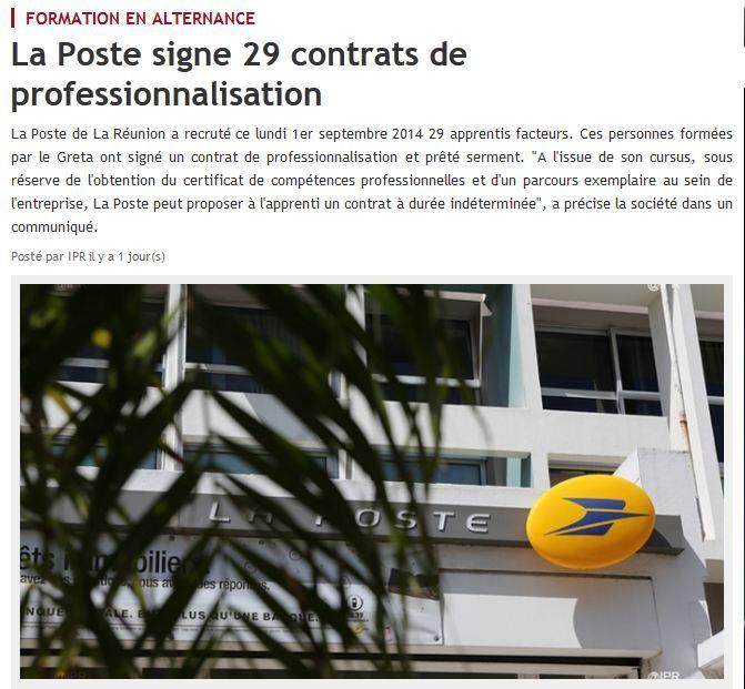 [Recrutement] Contrats de professionnalisation et prestations de serment pour 29 alternants à La Réunion ©  ipreunion.com, 3 septembre 2014, DR.