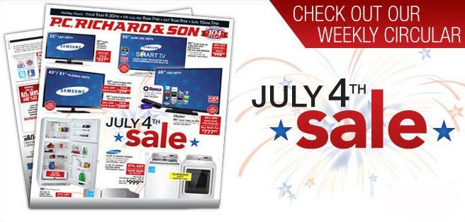 4th of july washer sales 2015