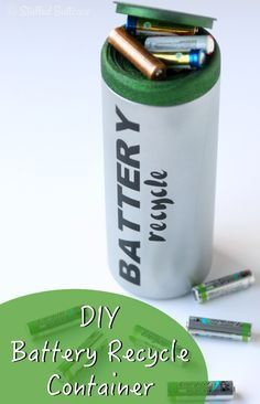 Don't Throw Batteries Away! DIY Battery Recycle Container
