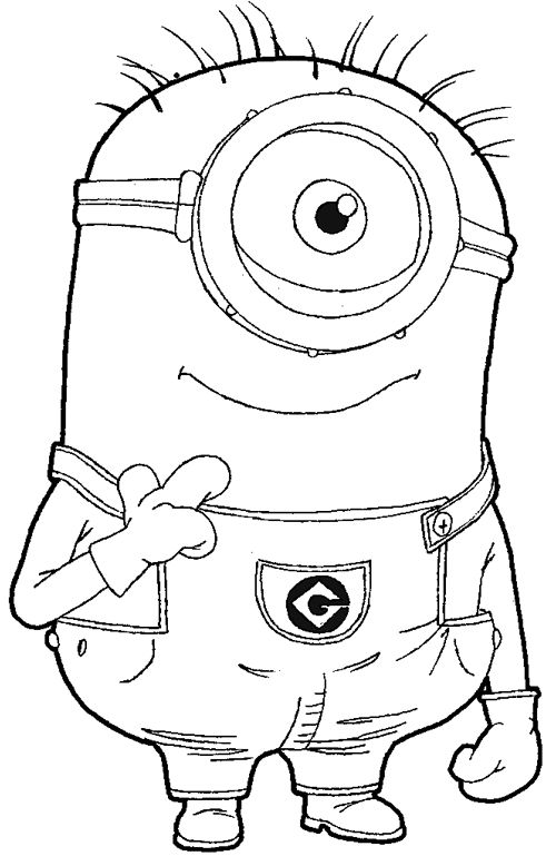 Step Step 097 How To Draw Kevin The Minion From Despicable