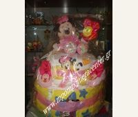 Τούρτα για νεογέννητο κοριτσάκι