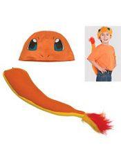 Child Charmander Costume Accessory Kit 2pc - Pokemon