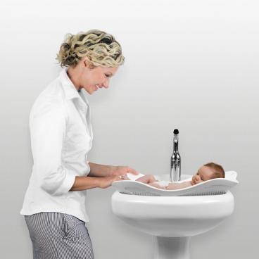 PUJ Blanc Siège de Bain pour lavabo - kadolis.com