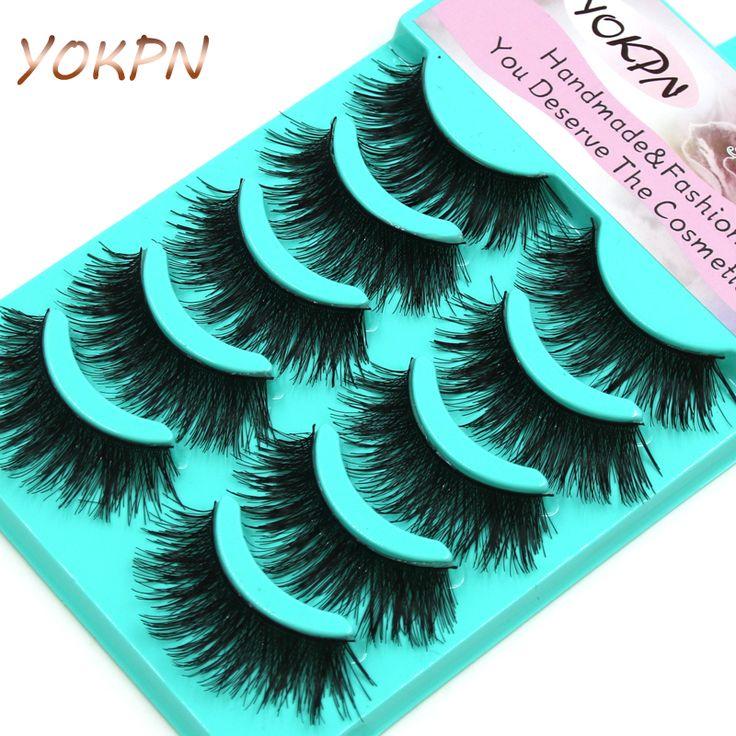 2016 New Thick Cross False Eyelashes 1 Box 5 Pairs High-quality Natural Makeup Tool Natural Fiber Fake Eyelashes