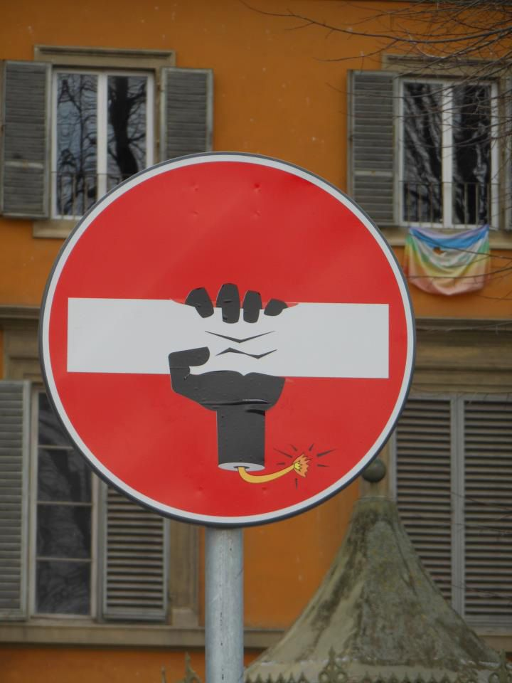 The Playful Signage Interventions of Clet Abraham   StockLogos.com