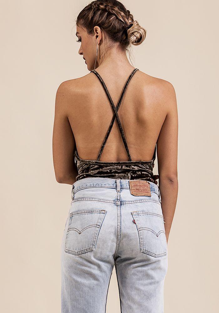 Crème de Menthe Bodysuit - exclusive  by myfashionfruit.com