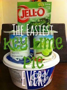 Easy Key Lime Pie - Saving Toward A Better Life