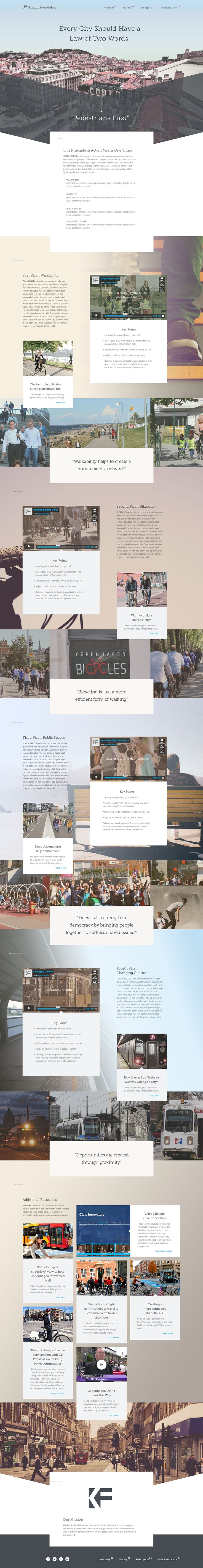 """Livable Cities"" - nice website template. ""Every City Should Have a Law of Two Words: Pedestrians First"" #template #website #city"
