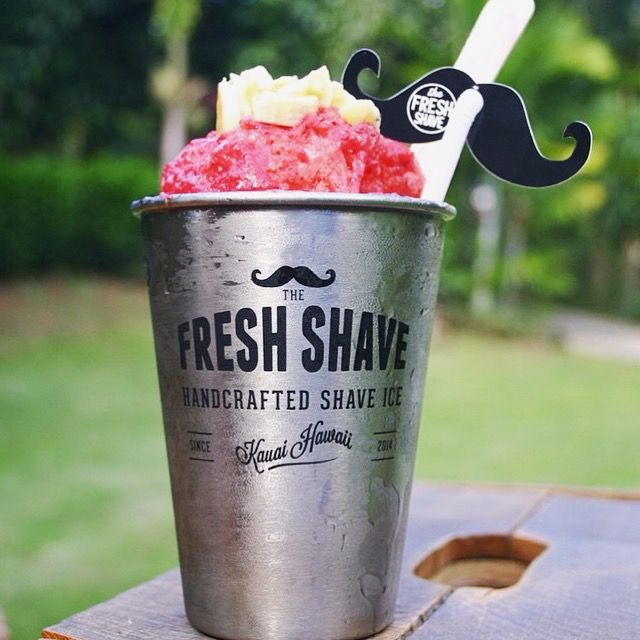 How refreshing does this look? Our friends at The Fresh Shave on Kauai had beautiful custom cups designed for their fresh organic shaved ice treat!