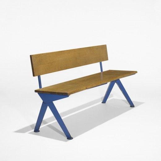 Jean Prouvé  bench from the Electricité de France, Marcoule