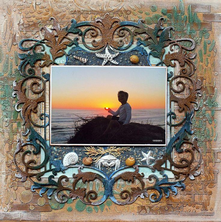 Sunset Canvas - CREATE chipboard challenge