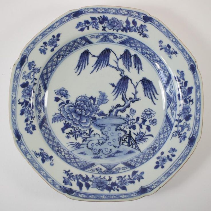 Antique Chinese blue and white porcelain plate. & 664 best Antique Chinese plate images on Pinterest | Blue and white ...