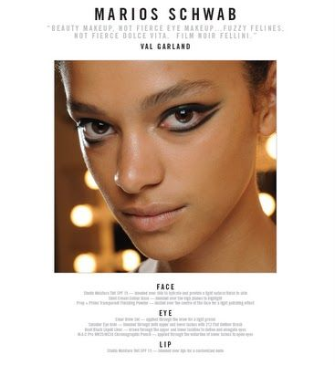 MAC London Fashion Week Daily Face Charts for September 18th