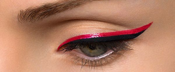 RED AND BLACK EYELINER