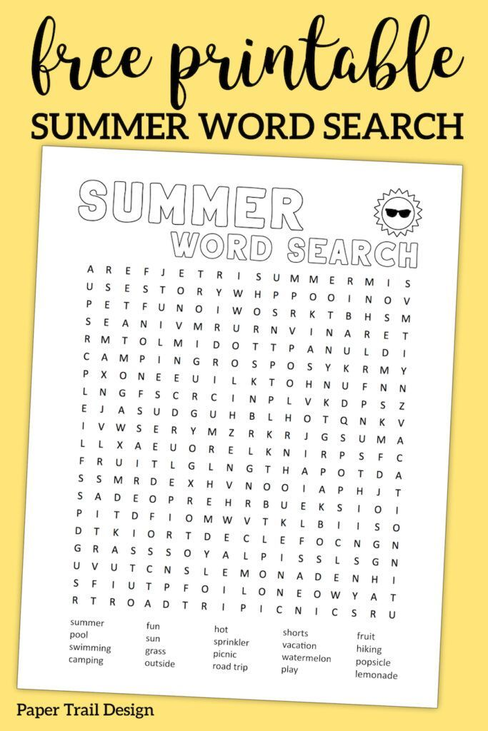 photo about Printable Summer Wordsearch titled Summertime Phrase Seem Printable Printables Summer season text