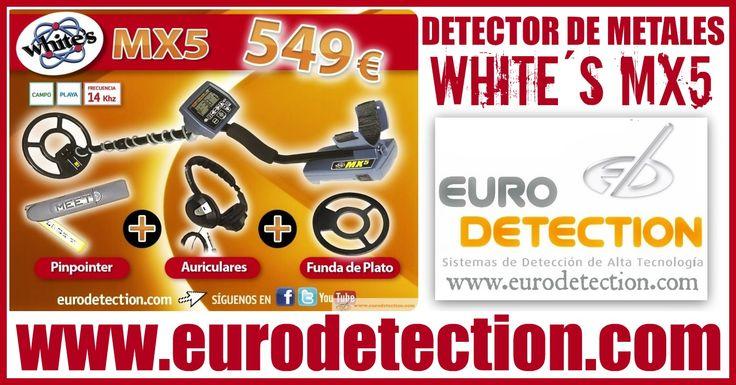 ¡¡Detector de metales White´s MX5 disponible en http://www.eurodetection.com/home/172-detector-de-metales-whites-coinmaster.html !! #Eurodetection #DetectorMetal #DetectordeMetales #MetalDetecting #WhitesMX5 #Whites #Hobby #Oro #Gold