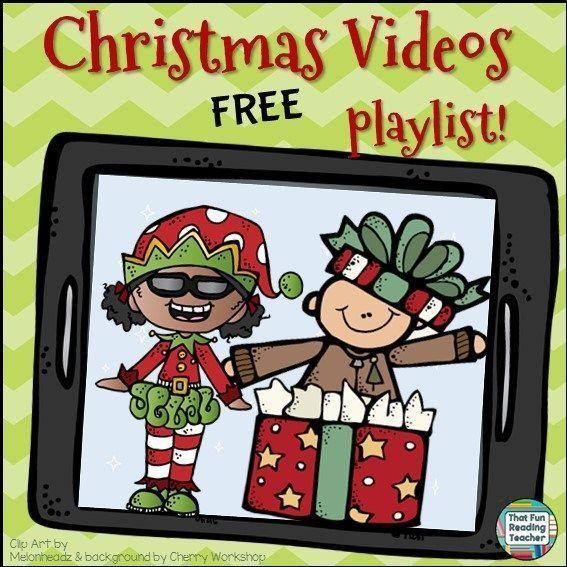 Christmas Videos - FREE on http://ThatFunReadingTeacher.com