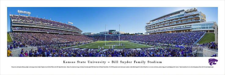 Kansas State K-State Wildcats Panoramic - Bill Snyder Family Stadium Picture $29.95