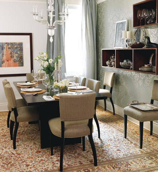 Gorgeous Wallpaper Dining Room Pinterest