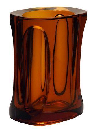 Monolithic amber vase attributed to Adolf Matura, for Rudolfova Hut, late 1960s.
