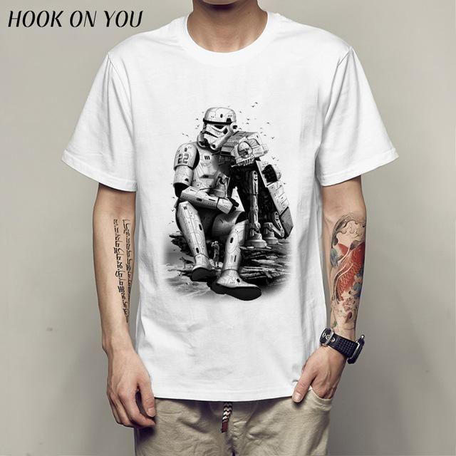 Men printed T-shirts Lock t-shirt men Funny novel men 's top tees Style warrior t-shirt