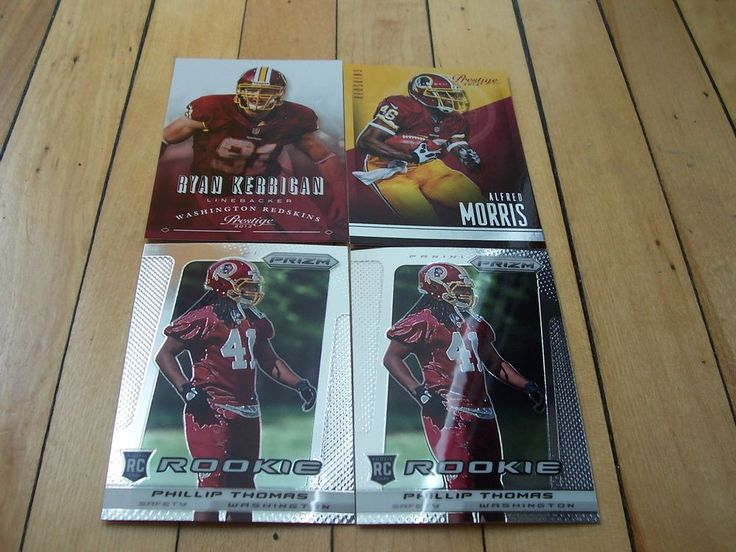 PHILLIP THOMAS RC ALFRED MORRIS RYAN KERRIGAN Washington Redskins (4) Card Lot