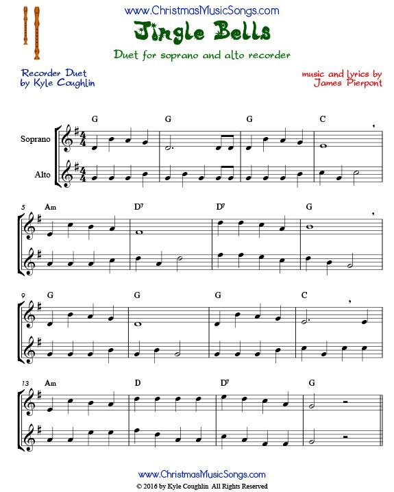 jingle bells duet for recorders in 2019 free christmas songs songs piano songs. Black Bedroom Furniture Sets. Home Design Ideas