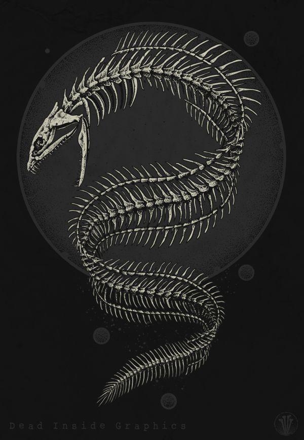 Eel skeleton by DeadInsideGraphics on deviantART | DARK ...