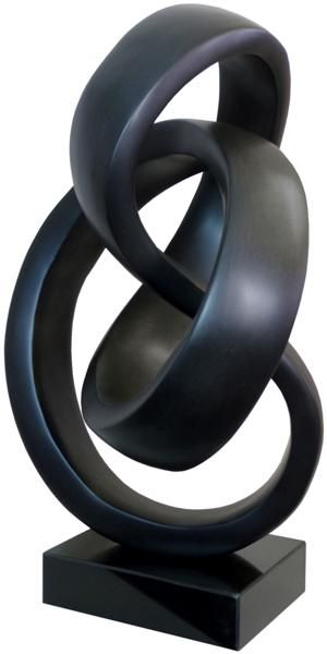 Abstract sculpture in black.