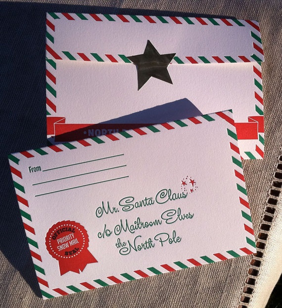 keeping these in mind for next christmas - letter to santa stationery