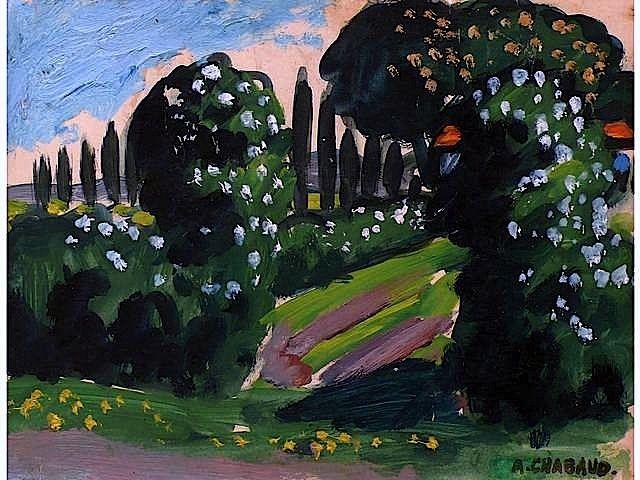 Auguste Chabaud (1882-1955) was een Franse schilder en beeldhouwer. Hij deed zijn artistieke opleiding in Parijs en daar ontmoette hij Henri Matisse en André Derain . Chabaud kubistische fase begon in 1911, waar hij ook begonnen met beeldhouwen. In de volgende jaren heeft hij vele tentoonstellingen, waar zijn werk naast dat van kunstenaars als Matisse, Derain, Vlaminck en Picasso werden tentoongesteld.