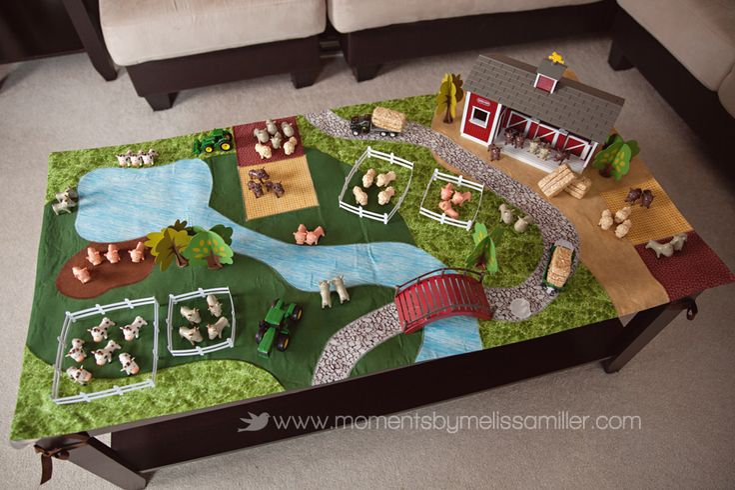 Farm Theme Birthday Party Girl Toddler 2 18 farm playmat play mat