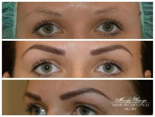 Eyebrows permanent makeup