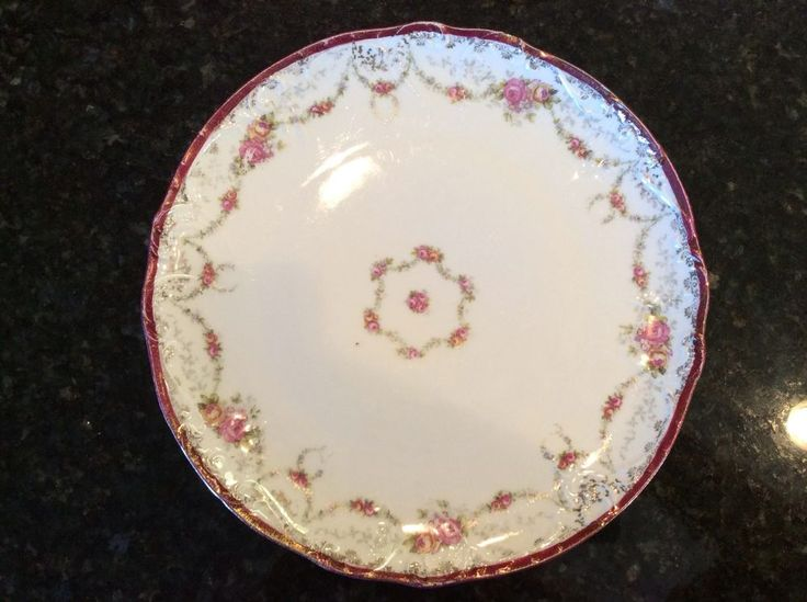 Hand Painted China Cabinet Plate 11  Pink Roses VICTORIA AUSTRIA & 26 best Fine Austrian - German China u0026 Porcelain images on Pinterest ...