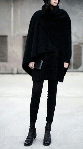 black | simple | style | elegant | winter outfit
