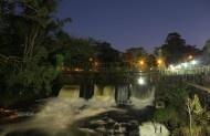 Parque dos Saltos em Brotas-sp ao anoitecer