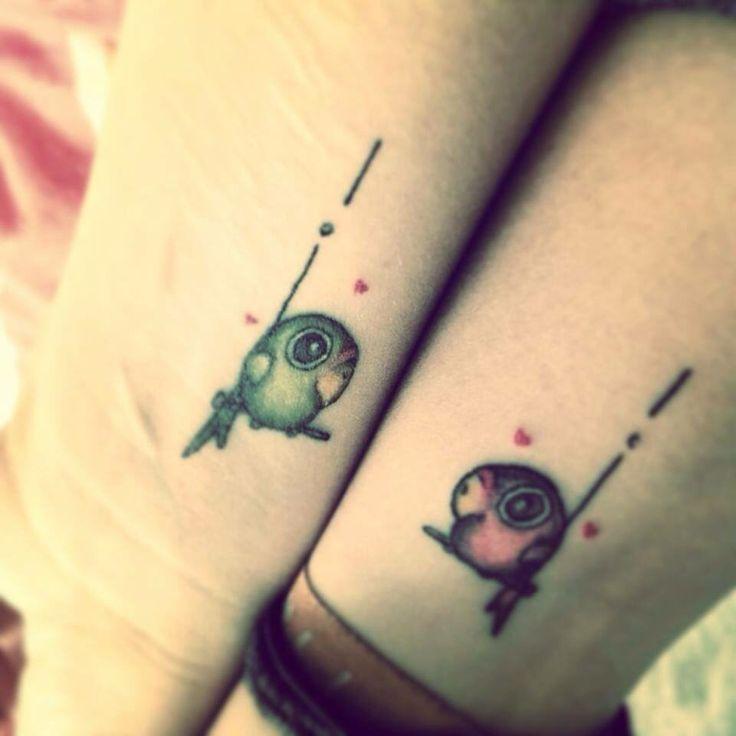 Lovebirds tattoo