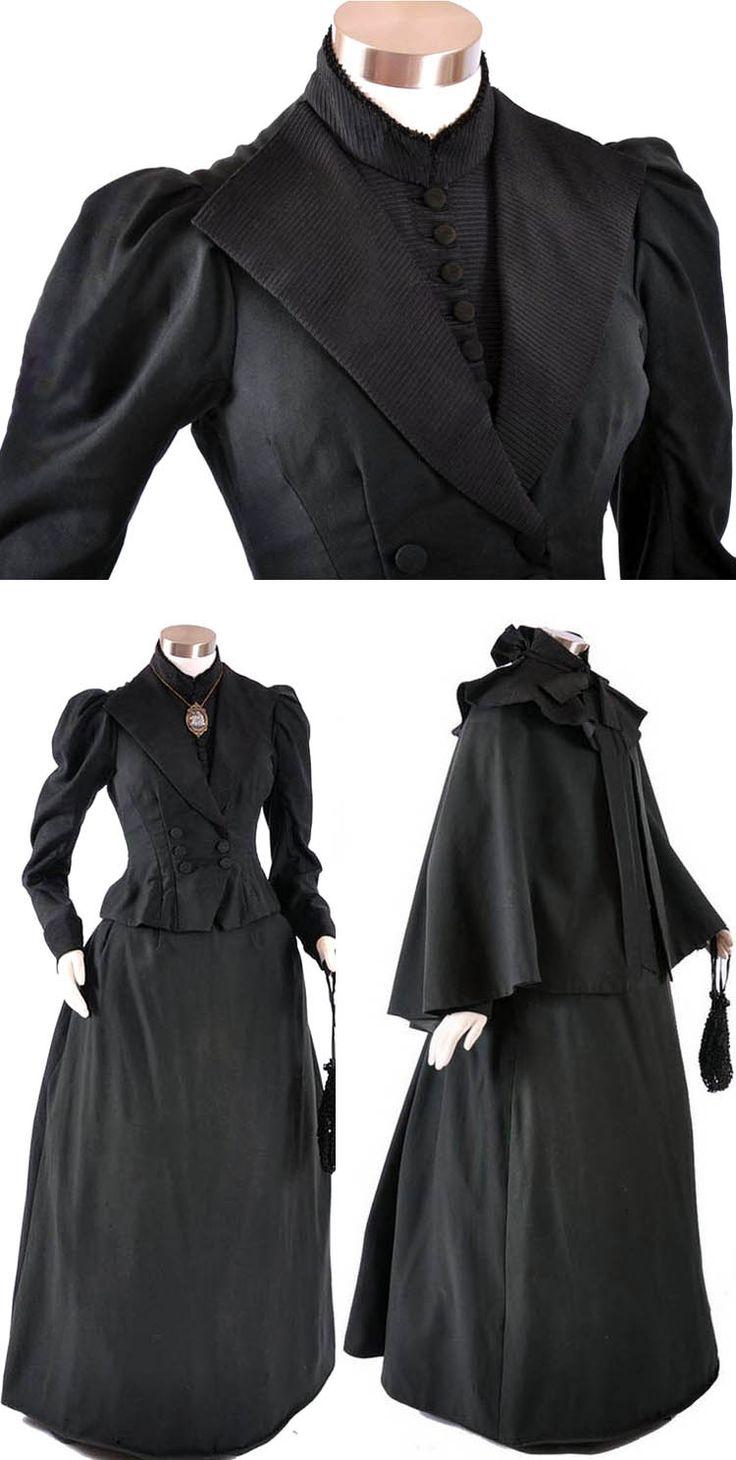 """Dress, Walking. Date: 1885–90 Culture: American (probably) Medium: silk, metallic thread. Accession Number: 1980.126.5"" The Metropolitan Museum of Art - Dress, Walking - Google Search"
