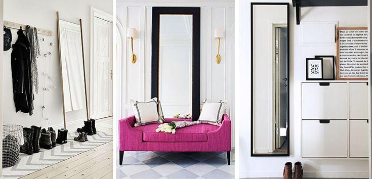 Espejos de cuerpo entero para decorar la entrada - http://www.decoora.com/espejos-de-cuerpo-entero-para-decorar-la-entrada.html