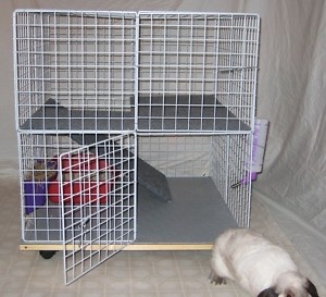 Bunny Mini Condo Indoor Rabbit Cage Hutch Pet Pen | eBay