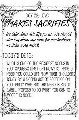 love dare day 8   28 Days