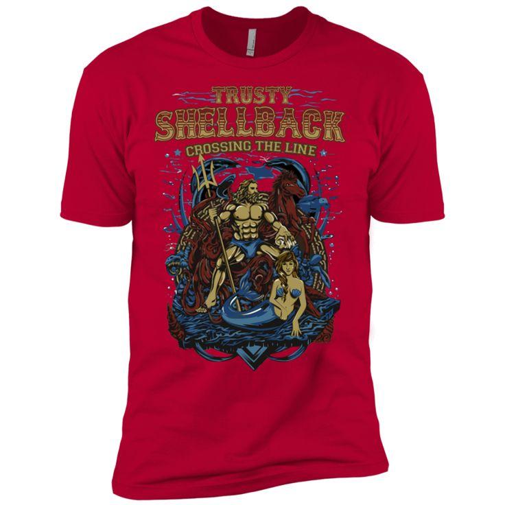 Trusty Shellback - Crossing the Line - Veteran T-Shirt - Military T-Shirts - Navy T-Shirts,veteran t shirts,military t shirts,veteran meaning,marine t shirt