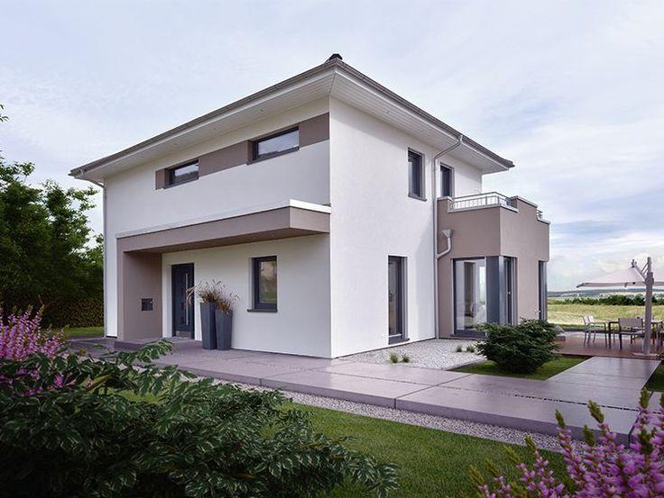 Virtuelle Besichtigung Bei dem CONCEPT-M 145 Musterhaus in Zweibrücken fügen sich der repräsentative Dachüberstand mit Kastengesims, der großzügige Übereck-Erker mit Balkon, die moderne Flachdach-Eingangsüberdachung und die Design-Eckfenster in das architektonische Gesamt-Konzept dieses Traumhauses ein. Hochwertige Details wie die Design-Haustür, die Fassadengestaltung und die großen Fenster veredeln die attraktive Villa noch weiter. Im Inneren genießen die Bewohner großzügige, Licht…