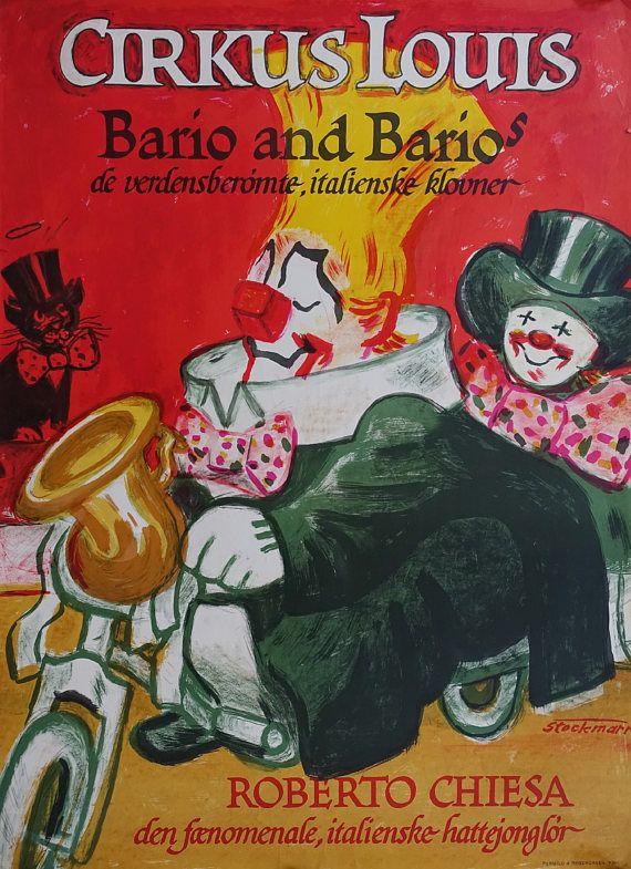 1950s Bario and Bario's in Circus Louis  Original Vintage