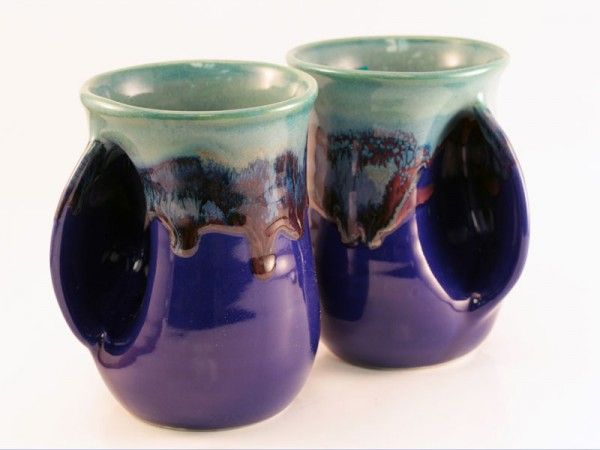 The original Handwarmer mugs from Clay in Motion. Handmade in USA. Have you hugged your mug today?