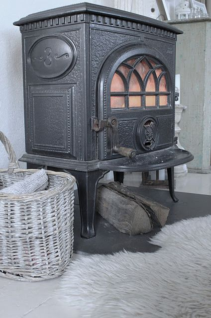 Old Jøtul wood stove.
